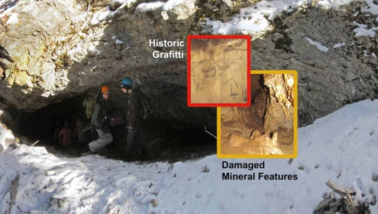 Historic Graffiti in Montana Caves