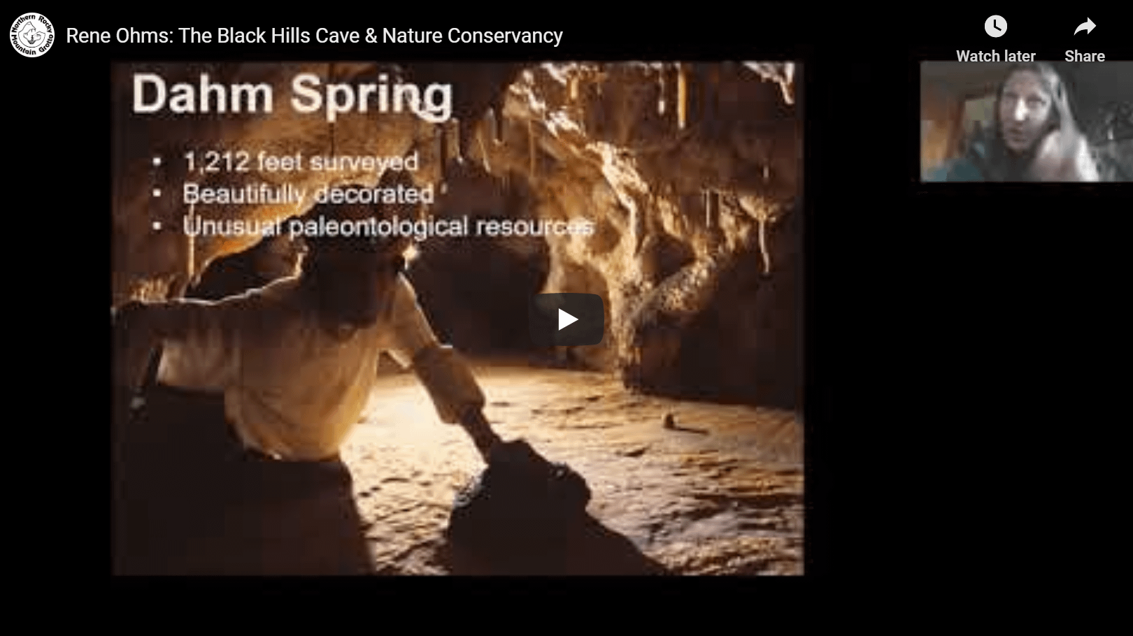 Rene Ohms: The Black Hills Cave & Nature Conservancy